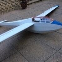 bergfalke II 55 model glider jilles smits
