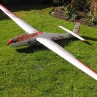 bocian scale model glider sailplane
