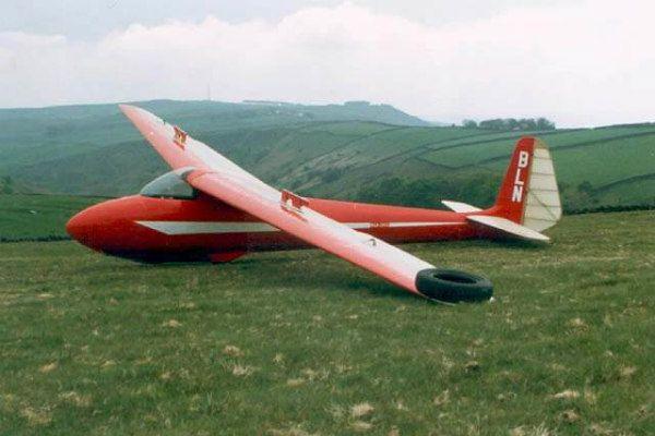 olympia 2B model glider plane