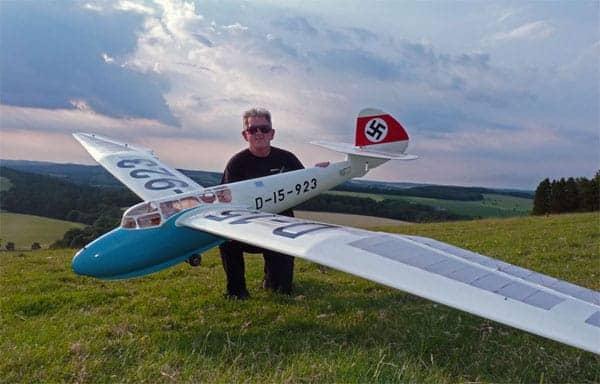 chris williams minimoa mo2 two seat model sailplane